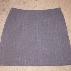 Plaid/ Vertical Striped Skirt